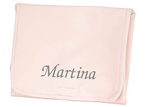 Vestidor/Cambiador Personalizado Polipiel para Bolso Rosa - Bordado con nombre Bebé