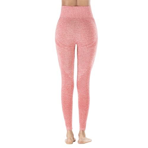 QTJY Pantalones de Yoga elásticos de Secado rápido para Mujer, Mallas Sexis para Levantar la Cadera, Pantalones Deportivos de Cintura Alta para Correr al Aire Libre JS