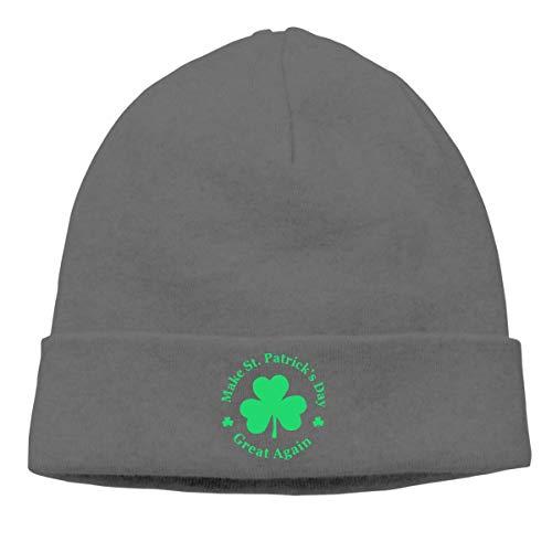 Voxpkrs Thick Woolen Cap Men Women, Make St Patricks Day Great Again Watch Cap Cool 37911