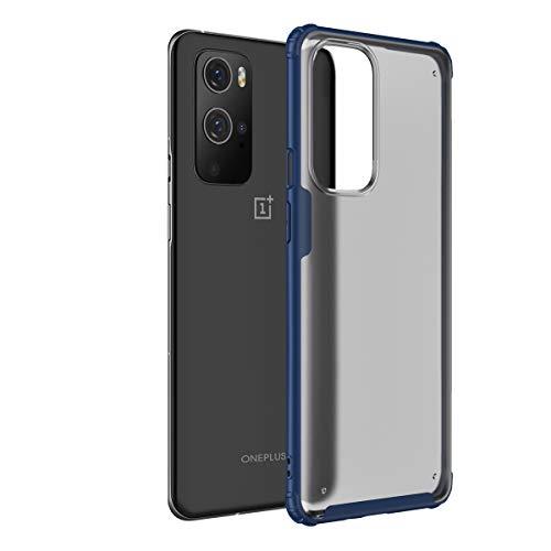 PUROOM Schutzhülle für OnePlus 9 Pro, ultradünn, luxuriös, matt, Polycarbonat, kratzfest, lichtdurchlässig, Hybrid-TPU, stoßfest, Schutzhülle für OnePlus 9 Pro (blau)