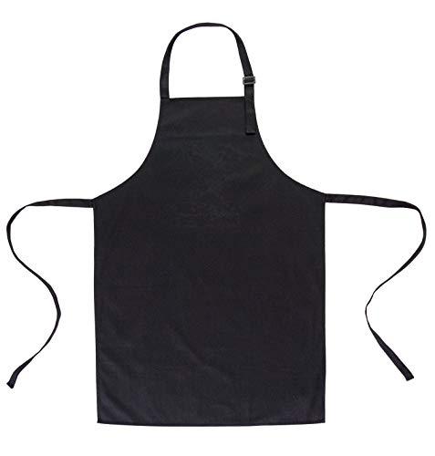 GRILLHIT X Schürze 100% Baumwolle, Kochschürze, Grillschürze für Männer und Frauen (100 cm x 70 cm, Schwarz mit Tasche)