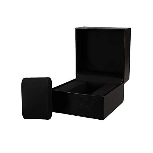 F-HOME Caja De Reloj Seguridad Amortiguar Durable Robusto Caja De Reloj Exquisito Elegante Joyas Mostrar Almacenamiento Negro Caja De Regalo