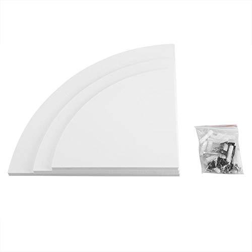 3 Pezzi mensola angolare Galleggiante a Muro Rack di stoccaggio scaffali mobili per la casa Ufficio Soggiorno Arredamento Bagno Bianco