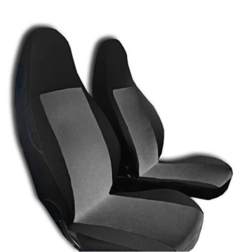 2 fundas de asiento delantero negro y gris Smart K Fortwo Brabus Roadster Cross Coupe