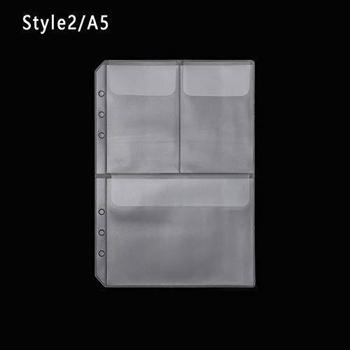 1 PC A5 Rits Lock PVC Losbladige Opbergtas Document Postkaart Sjabloon Verzegeld Eenvoud Stijl 2