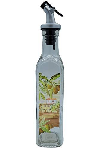 Aceitera Cristal Antigoteo Con Tapón ABS 250ml | Aceitero De Cocina Dispensador Pulverizador Dosificador Para Cocinar