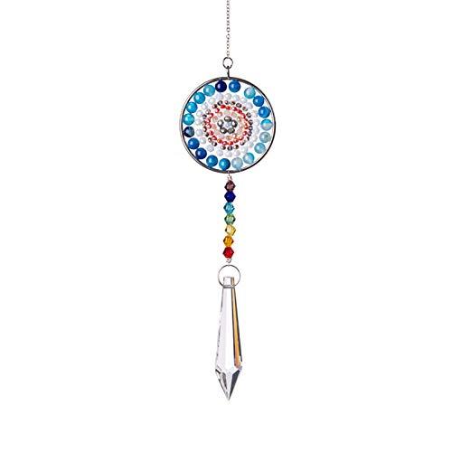 Fensterdeko Hängend Grünes Mandala Kristallanhänger Anhänger Baum Des Lebens Anhänger Kristallschmuck Anhänger Perlen Vorhang