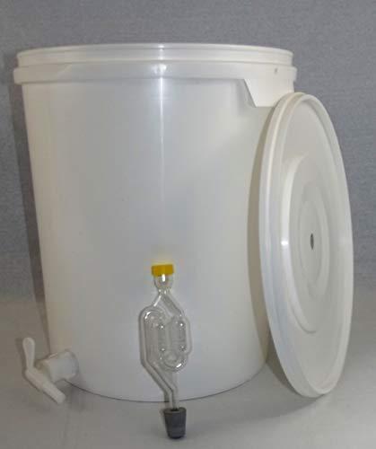 Nahrungsmittel-selbermachen Gärbehälter aus lebensmittelechtem Kunststoff in verschiedenen Varianten (33 Liter mit Ablasshahn)
