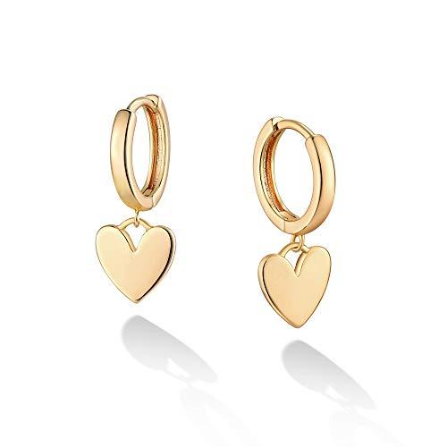 Heart Hoop Earrings Minimal Huggie Dainty Huggie Hoop Earrings Tiny Heart Shaped Hoop Earrings Gold Charm Earrings Gifts For Her Boho Jewelry