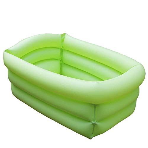 Family Pool, Pool Aufblasbares rechteckig Paddling Schwimmbad PVC for Kinder, Erwachsene Kinder, Außen Grün, Grün, 65 * 45 * 30 cm (Farbe: Grün) ZHNGHENG (Color : Green)