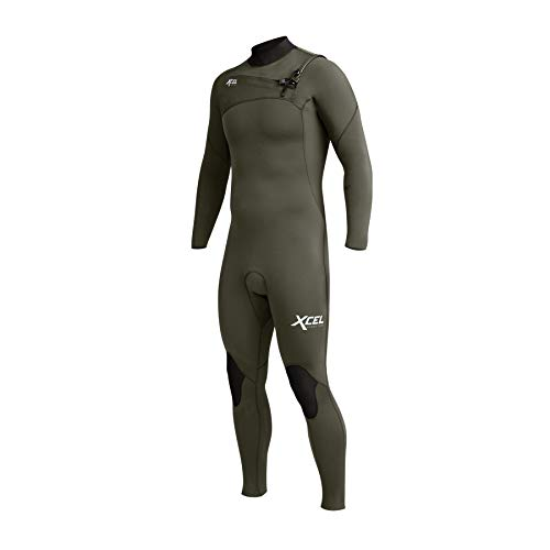 XCEL Herren Comp 3/2mm Chest Zip Wetsuit - Dark Forest - leichten Wasserdichten Spritzwasser