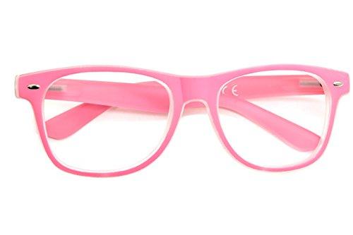 MFAZ Morefaz Ltd New Unisex (Damen Herren) Retro Vintage Lesebrille Brille +0.50 +0.75 +1.0 +1.5 +2.0 +2.5 +3.00 +4.00 Reading Glasses (1.00, Pink)