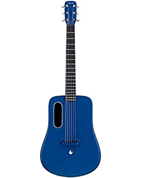 LAVA ME 2 Carbon Fiber Guitar with Effects 36 Inch Acoustic Electric Travel Guitar with Bag Picks and Charging Cable  Freeboost-Blue
