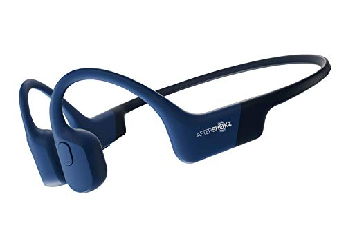 AfterShokz Aeropex Open-Ear Wireless Bone Conduction Headphones, IP67 Rated, Blue Eclipse