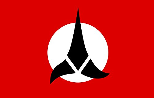 magFlags Flagge: Large Klingon Empire | An Version of The Flag of The Klingon Empire as it Appears in The Flag of The World site | Querformat Fahne | 1.35m² | 90x150cm » Fahne 100% Mad