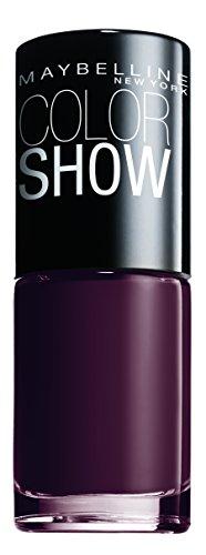 Maybelline New York Make-Up Nailpolish Color Show Nagellack Burgundy Kiss/Ultra glänzender Farblack in sattem Weinrot, 7 ml