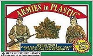 WWI - Canadian Regiments Expeditionary Force: 20 piece set of 54mm Plastic Army Men Figures - 1:32 Scale