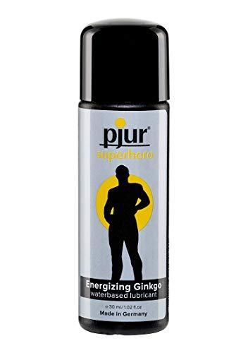 pjur superhero glide - Lubricante estimulante con ginkgo - da potencia y estimula - para todos los hombres que desean más (30ml)
