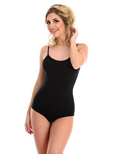 Magi damskie body | body z ramiączkami spaghetti – S M L XL podkoszulek pod spód optymalne dopasowanie | sportowe body do tańca dla kobiet