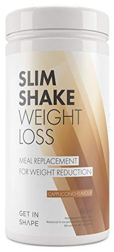 Slim Shake - der Shape Shake und Abnehm Shake (Diät Shakes) - Mahlzeitersatz mit dem Eiweiß Shake - von Get In Shape (Cappuccino)