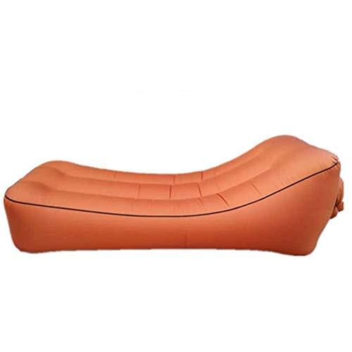 Yuanyuanliu Lit d'air Hamac Sofa Gonflable en Plein Air Gonflable Bureau Portable Déjeuner Coussin De Lit Pause (Color : A)