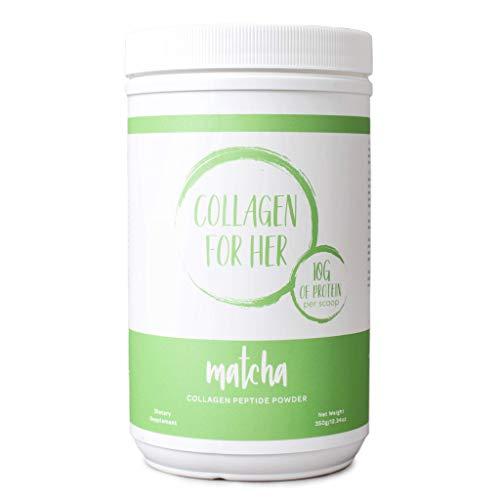 Collagen For Her: Organic Matcha Collagen - Organic Japanese Matcha (Green Tea) & Grass-Fed Hydrolyzed Collagen Peptide Powder | Non-GMO, Sugar Free, Paleo, Keto (28 Servings)