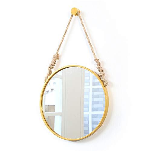 Badkamerspiegel met, ijzeren muur hangen badkamerspiegel decoratieve badkamer spiegel ronde spiegel hotel hennep hangende spiegel