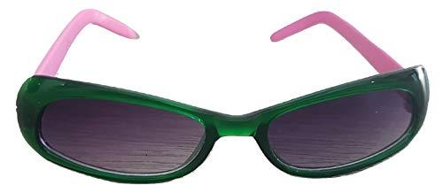 PICCOLI MONELLI Gafas de Sol para niña con Montura de 13cm de Ancho Rosa y Verde