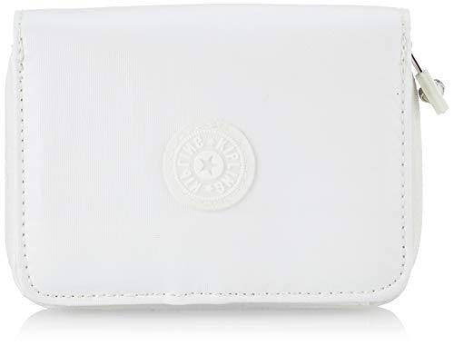 Kipling Money Love, Carteras para Mujer, Blanco (White Metallic), 9.5x12.5x2.5 cm