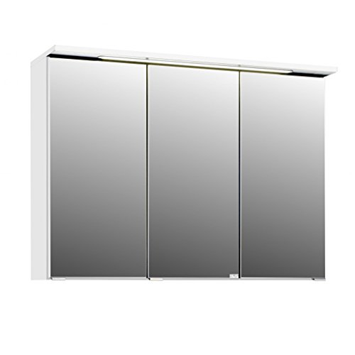 3D Spiegelschrank in 5 verschiedenen Breiten Bolina Weiss inkl. intergrierter Beleuchtung-Steckdose (breite 90cm)