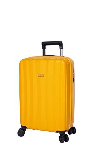 Jump JuMP Koffer mit 4 Rädern, ausziehbare Kabine und Business Tanoma (3196/3198EX/3199EX), Bernstein, Universelle / 55*35*20/24 cm, Koffer