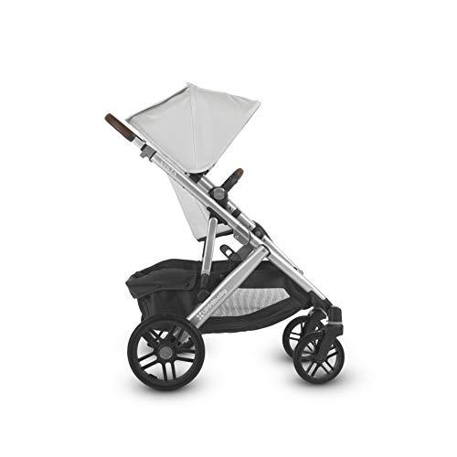 UPPAbaby 2018 Vista Stroller -Bryce (White Marl/Silver/Chestnut Leather)