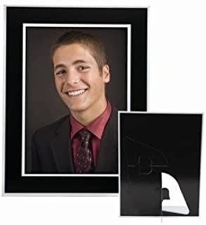 Neil Enterprises, Inc 5x7 Black Plain Easel Paper Photo Frame - Pack of 100