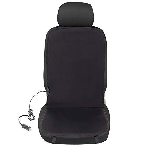 eSituro SHP0006 Auto Heizauflagen Sitzheizung 12 V Heizung für Sitz & Rücken Vordersitz Überhitzungsschutz Schwarz