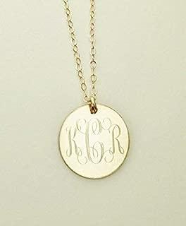 Gold Filled Monogram Necklace