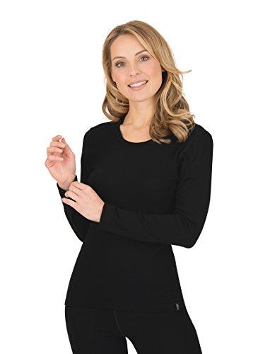 Trigema Damen Langarm Ski/Sport Shirt, Noir (Schwarz 008), 30 Femme