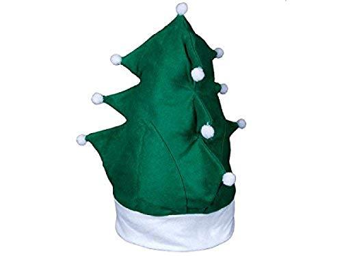 'Bonnet de noël sapin vert avec blanc ''WM-113'' deguisement original père papa Noel-Idéal pour apporter une touche d''originalité et amuser les plus petits déguisement Arbre -nouvel An- fête Noel homme femme enfant extraordinaire magnif'