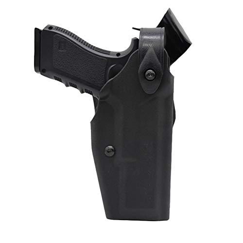 Vioaplem Funda Táctica Glock Caso Pistola De Airsoft Arma De La Mano De Funda For Glock 17 18 19 22 26 31 Fundas con La Bolsa De Seguridad Hebilla De Accesorios De Caza Pistoleras