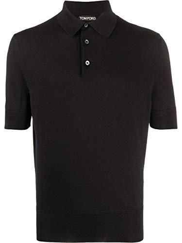 Tom Ford Luxury Fashion Herren TFKC33BUC00K09 Schwarz Poloshirt | Frühling Sommer 20
