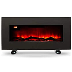 Warm Your Home: Our elegant 85-centimetre electric fireplace effortlessly provides supplemental heat for spaces up to 40 square metres; its minimalist construction and modern design provide timeless appeal Versatile Space Heater: Set the electric hea...