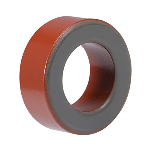 Sourcingmap – 26,8 x 45,2 x 17 mm Anillo de ferrita hierro polvo Toroide núcleos rojo gris