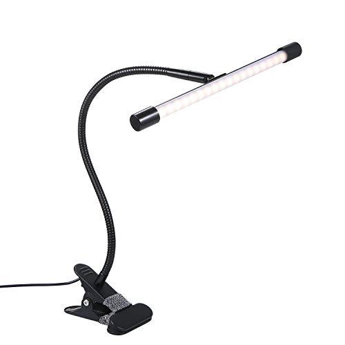 Ys-s Personalización de la Tienda Lámpara de Escritorio Foldaway 10levels Lámpara de Mesa Regulable Tabla impulsada Desclaudida 7W Night Light Clip Clip Dimagen Lámpara portátil