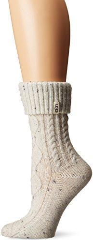 UGG Women's Sienna Short Rainboot Sock, cream, O/S