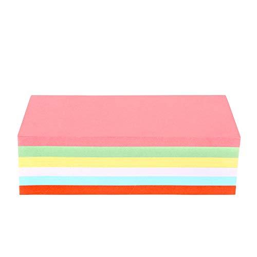 ewtshop® Moderationskarten, rechteckig, 200 x 100 mm, 250 St. 6 Farben, stabiles 180 g Papier