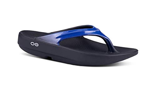 OOFOS - Women's OOlala - Post Exercise Active Sport Recovery Thong Sandal - Jet Blue - W8
