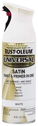 Rust-Oleum 245210 Universal All Surface Spray Paint, 12 oz, Satin White