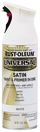 Rust-Oleum 245210 Universal All Surface Spray Paint, 12 oz, Satin White