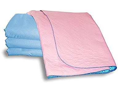 Washable Bed Protector/Pad Without Tucks - Pack of 2, Pink