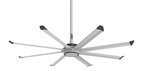 Big Ass Fans Essence 8-foot 8-Blade Residential/Commercial Variable Speed Ceiling Fan, Wall Mounted Dial Control, Standard Mount, for Indoor or Outdoor Use