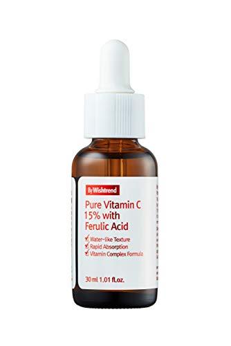 [BY WISHTREND] Pure Vitamin C 15% with Ferulic Acid, 1.01 Fl Oz, Hypoallergenic, Non-Sticky, 43% Vitamin Tree Water